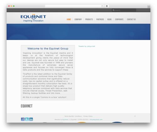 WordPress template Inspire - equiinet.co.uk