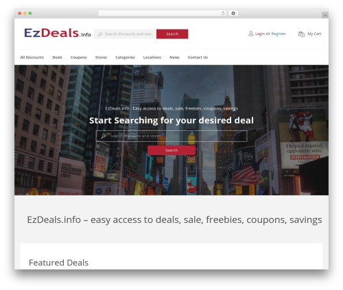 CouponXxL WordPress theme - ezdeals.info