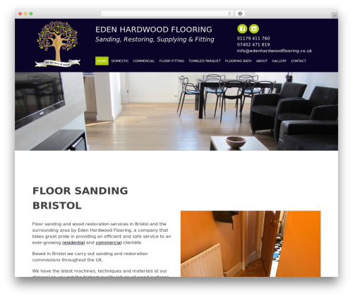 Eden WordPress theme - edenhardwoodflooring.co.uk