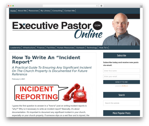 Free WordPress Book Review plugin - executivepastoronline.com