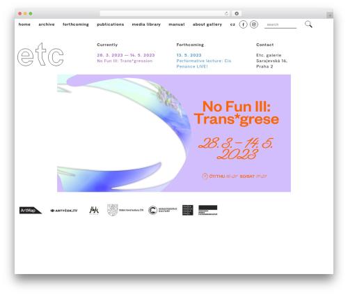 FoundationPress WP theme - etcgalerie.cz
