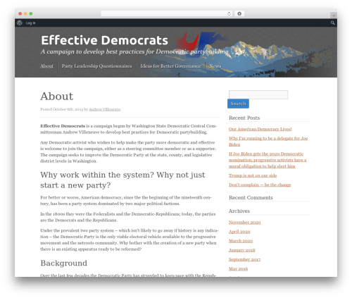 Kore WordPress template - effectivedemocrats.org