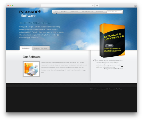 MyProduct WordPress theme - estamade.com