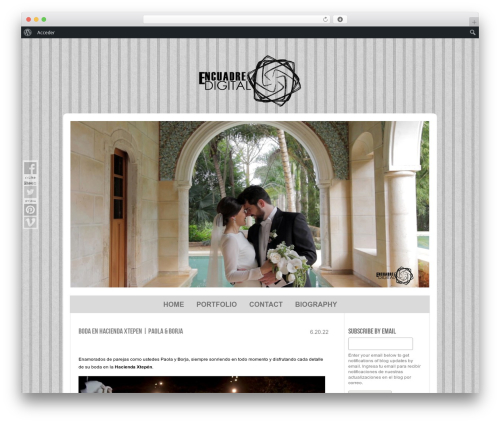ProPhoto best wedding WordPress theme - encuadredigital.mx
