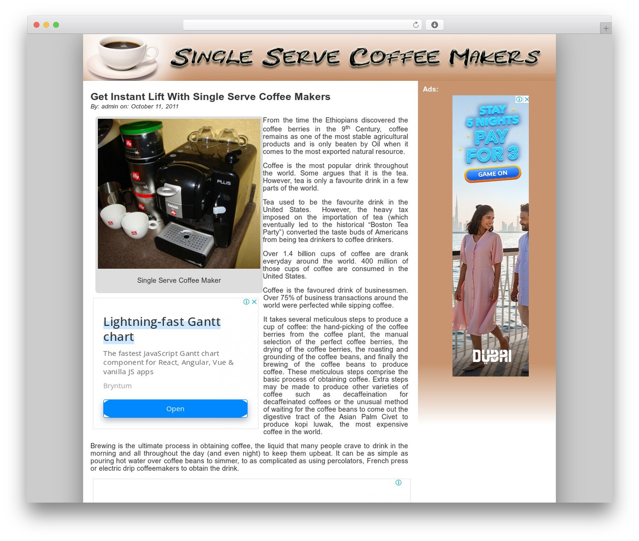 Theme WordPress ClickBump - esingleservecoffeemakers.org