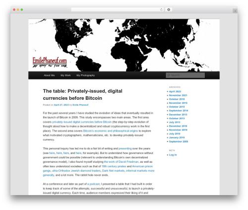 Twenty Eleven free WordPress theme - emilephaneuf.com