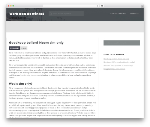 Daily Stories free website theme - efficiencytest.nl