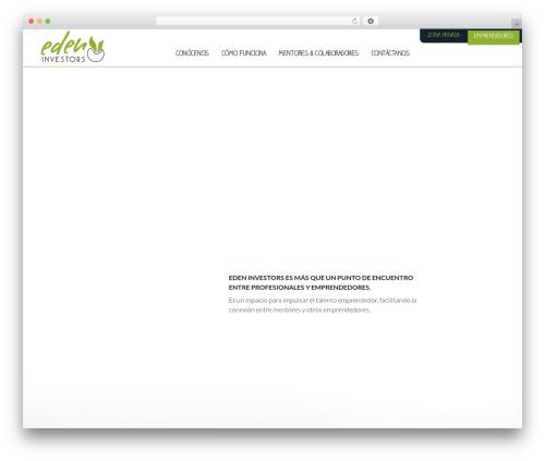 Eden WordPress page template - edeninvestors.com