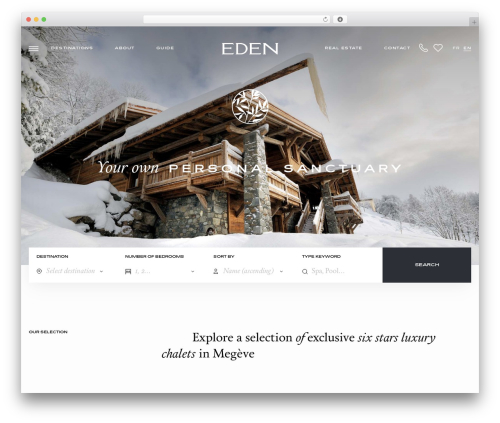 Eden WordPress portfolio theme - edenluxuryhomes.com