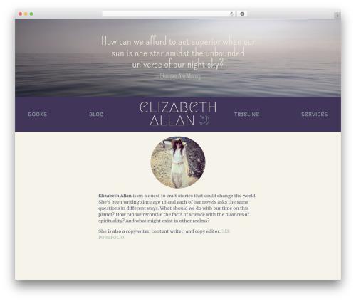 Elizabeth WordPress website template - ebethallan.com