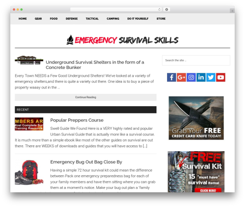 Genesis best WordPress theme - emergency-survival-skills.com