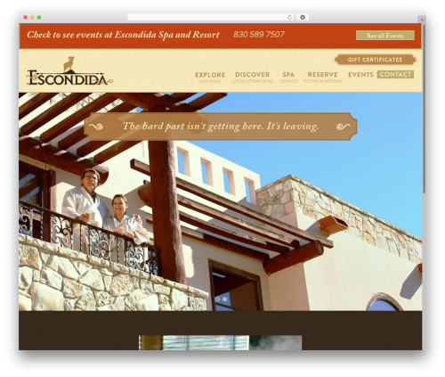 Free WordPress Custom Banners plugin - escondidaresort.com