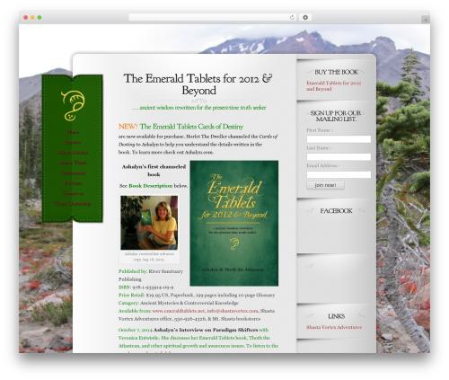 Memoir template WordPress - emeraldtablets.net