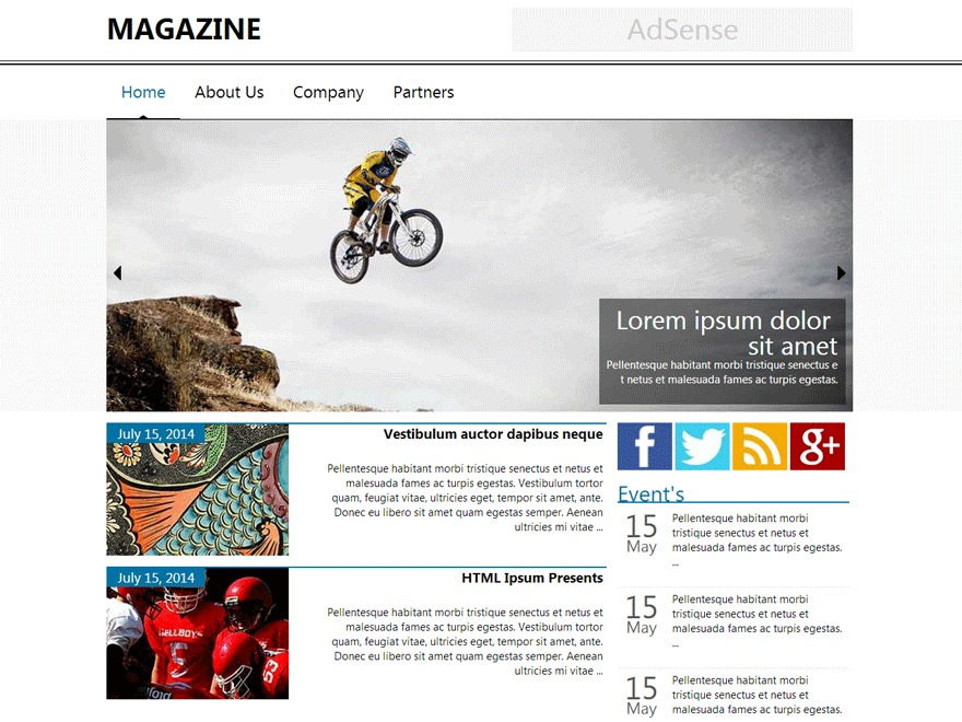 News Magazine Child WordPress news template