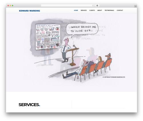 Scroller Theme best WordPress template - edwardwareing.com