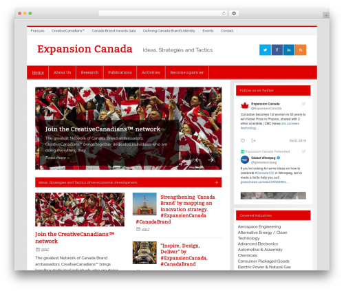 Smartline best WordPress theme - expansioncanada.ca