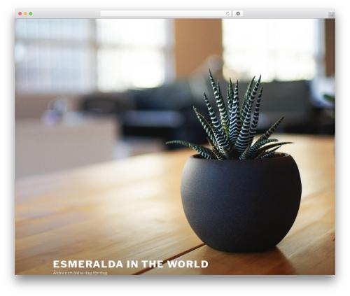 Theme WordPress Twenty Seventeen - esmeralda.se