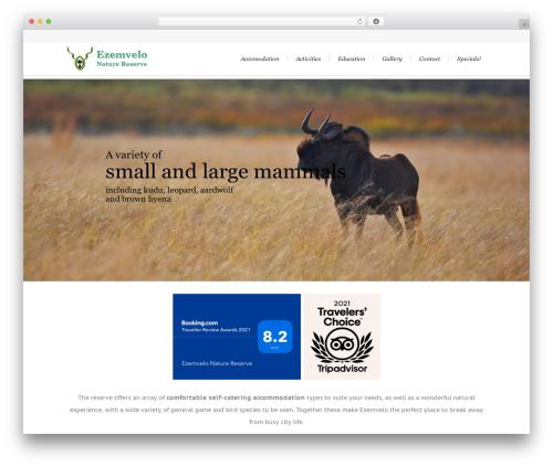 WP theme Lounge - ezemvelo.co.za