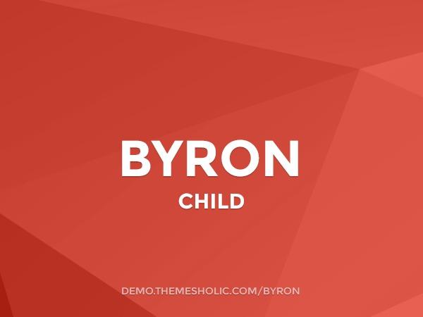 Byron Theme Child WordPress blog template