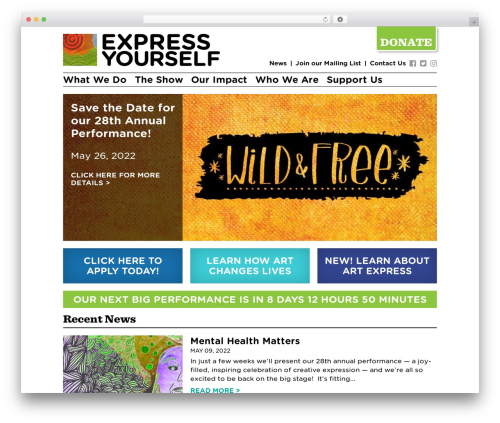 Express Yourself WordPress template - exyo.org