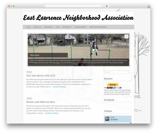 Fresh & Clean theme WordPress - eastlawrence.com