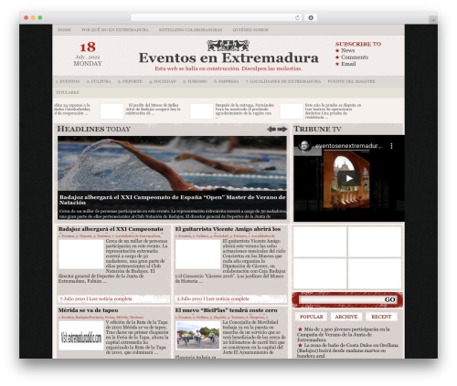 Theme WordPress Tribune - eventosenextremadura.com