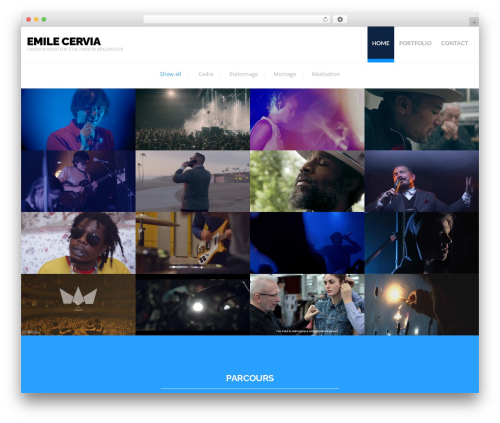 WordPress theme Hercules - emile-cervia.com