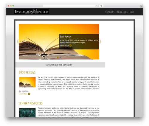 Best WordPress template Easy - evolution-exposed.com
