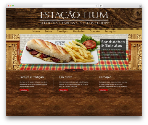 Bordeaux Premium Theme WordPress theme - estacaohum.com.br