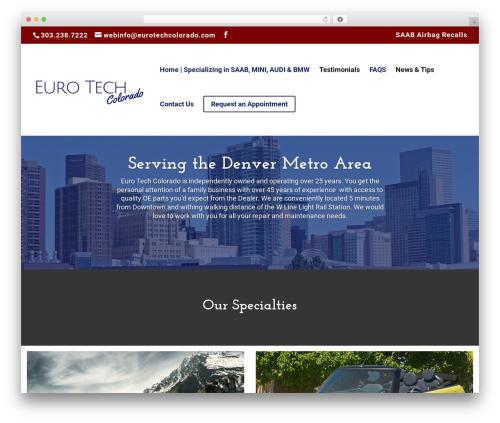 Divi WordPress theme - eurotechcolorado.com