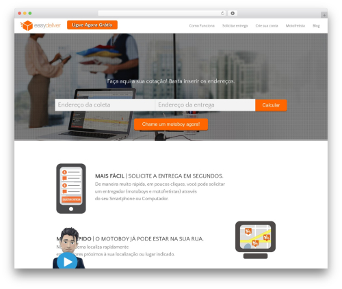 Encore WordPress theme design - easydeliver.com.br