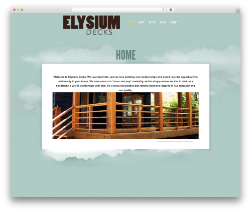Sky WordPress theme - elysiumdecks.com