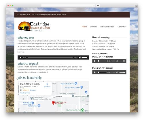 Total best free WordPress theme - elpasochurchofchrist.com