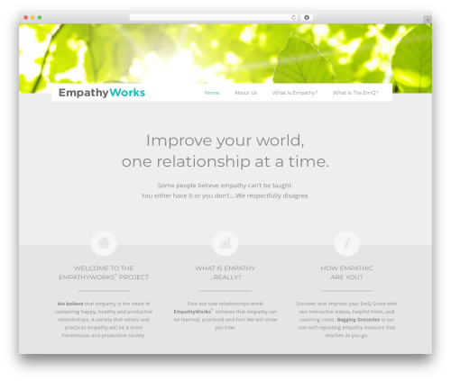 Twenty Twelve template WordPress free - empathyworks.org