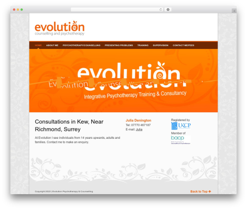 WordPress template Pinpoint - evolution-psychotherapy.co.uk