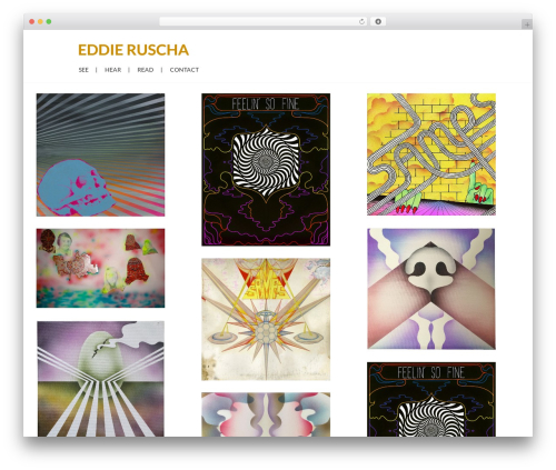 WordPress theme Grid Based Responsive WordPress Theme - eddieruscha.com