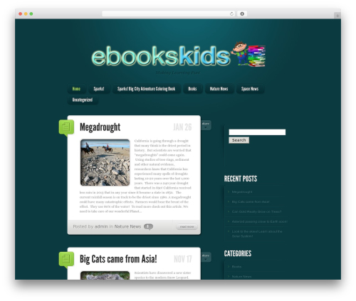 WordPress theme LightBright - ebookskids.net