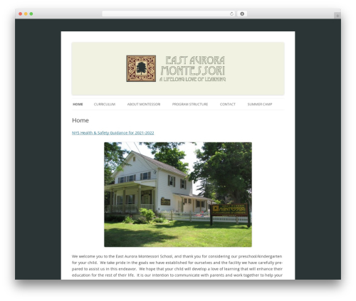 WordPress theme Montessori Theme - eamontessori.com