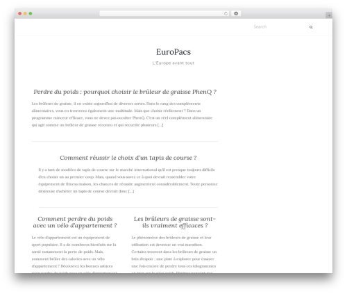 Activello free WordPress theme - europacs.org