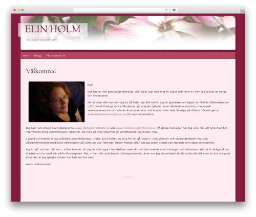 Bouquet top WordPress theme - elinholm.se