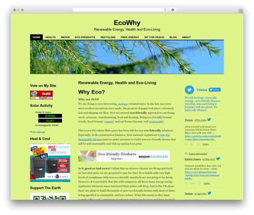 Coraline Child WordPress website template - ecowhy.co.uk