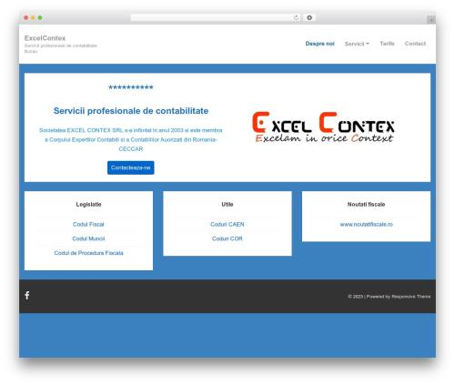 Responsive template WordPress - excelcontex.com