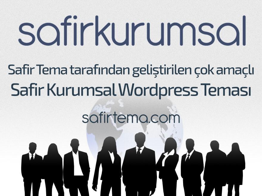 Safir Kurumsal WordPress template