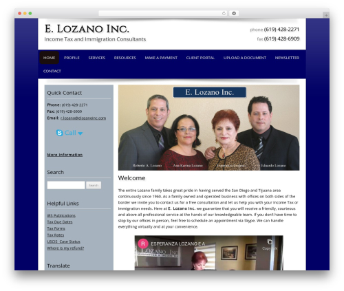 Theme WordPress Customized - elozanoinc.com