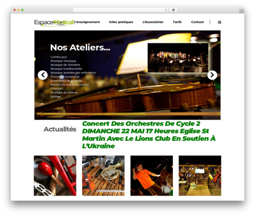 WordPress theme Pitch - empessac.fr