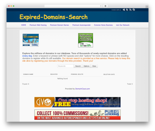 WordPress website template Modular - expired-domains-search.com