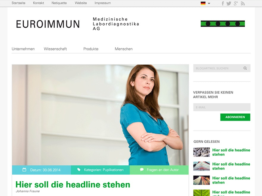 WP template Euroimmun