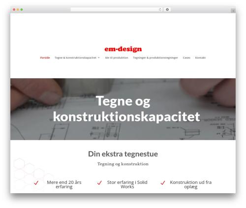 WP theme Divi - em-design.dk