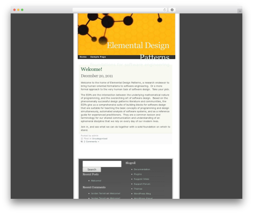 Best WordPress template Ambiru - elementaldesignpatterns.com