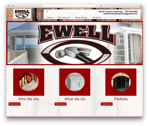 Customizr theme WordPress - ewellcustomcarpentry.com